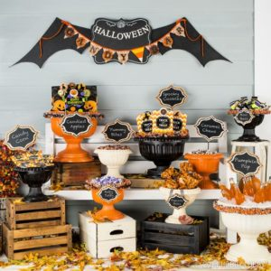 Candy bar halloween pentru copii