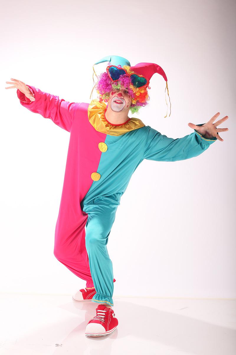 Clown rosu albastru